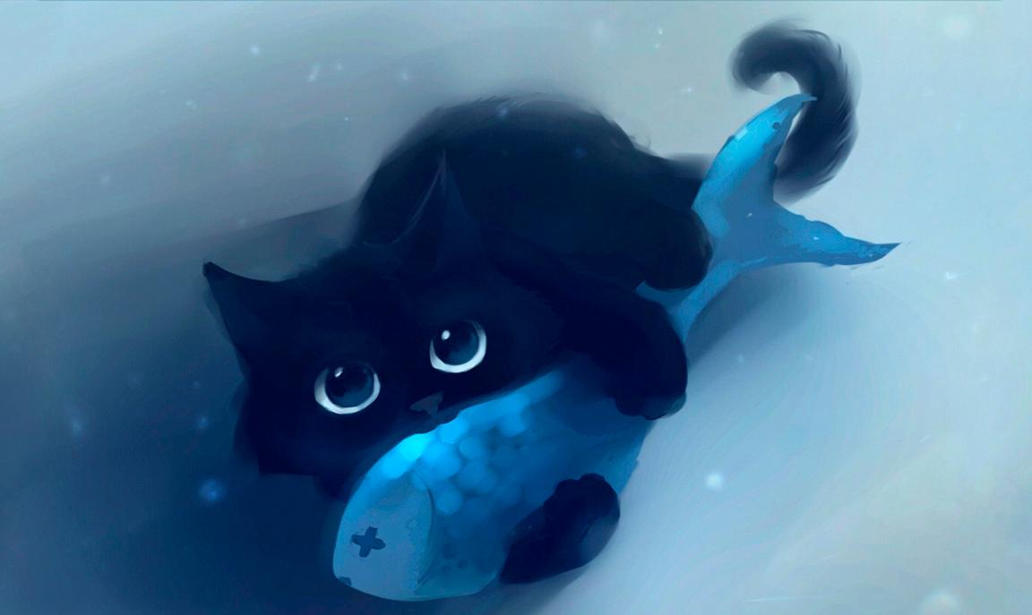 Кот с рыбкой